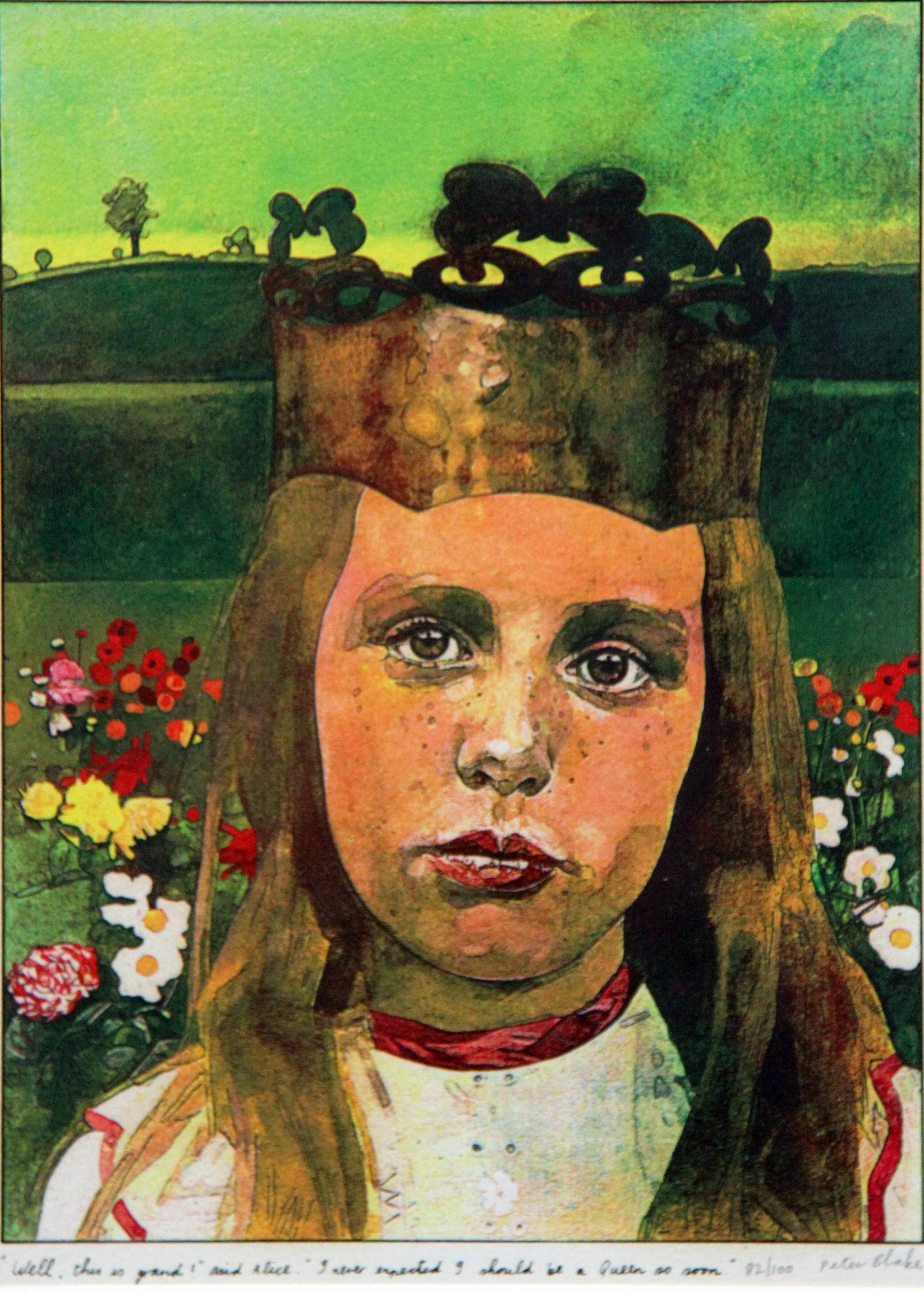 PETER BLAKE - 'Alice in Wonderland - Well, this is grand! Said Alice. I never expected I should be a Queen so soon'