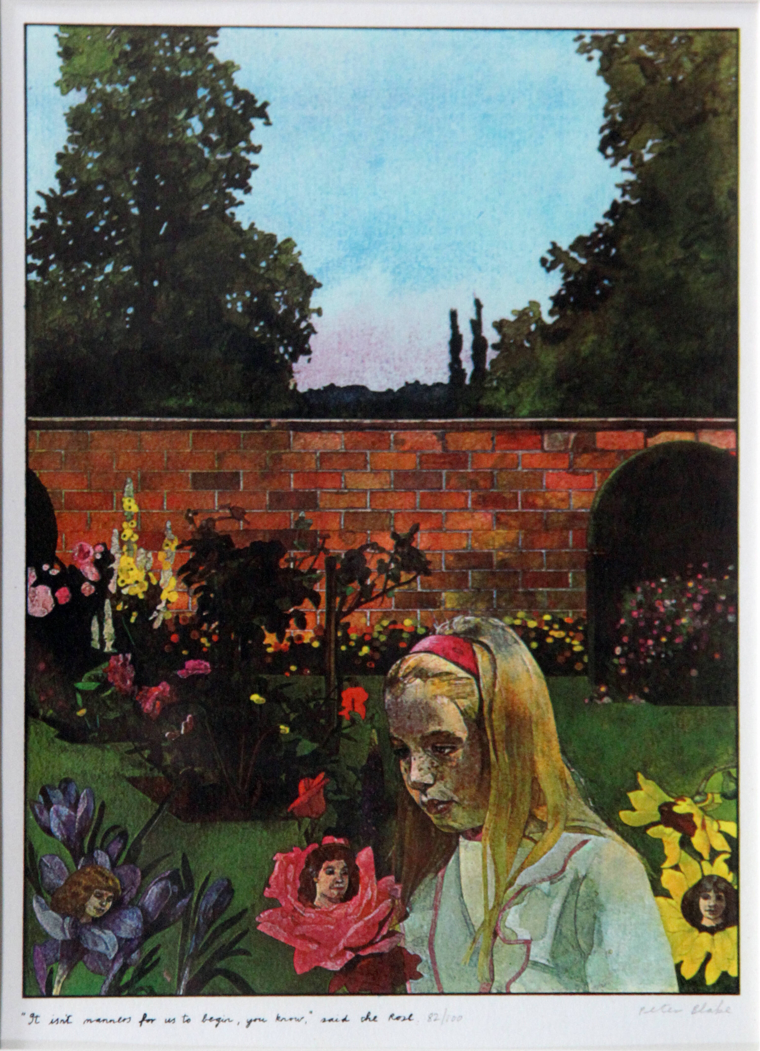 PETER BLAKE - 'Alice in Wonderland - It isn't manners for us to begin, you know - said the rose'