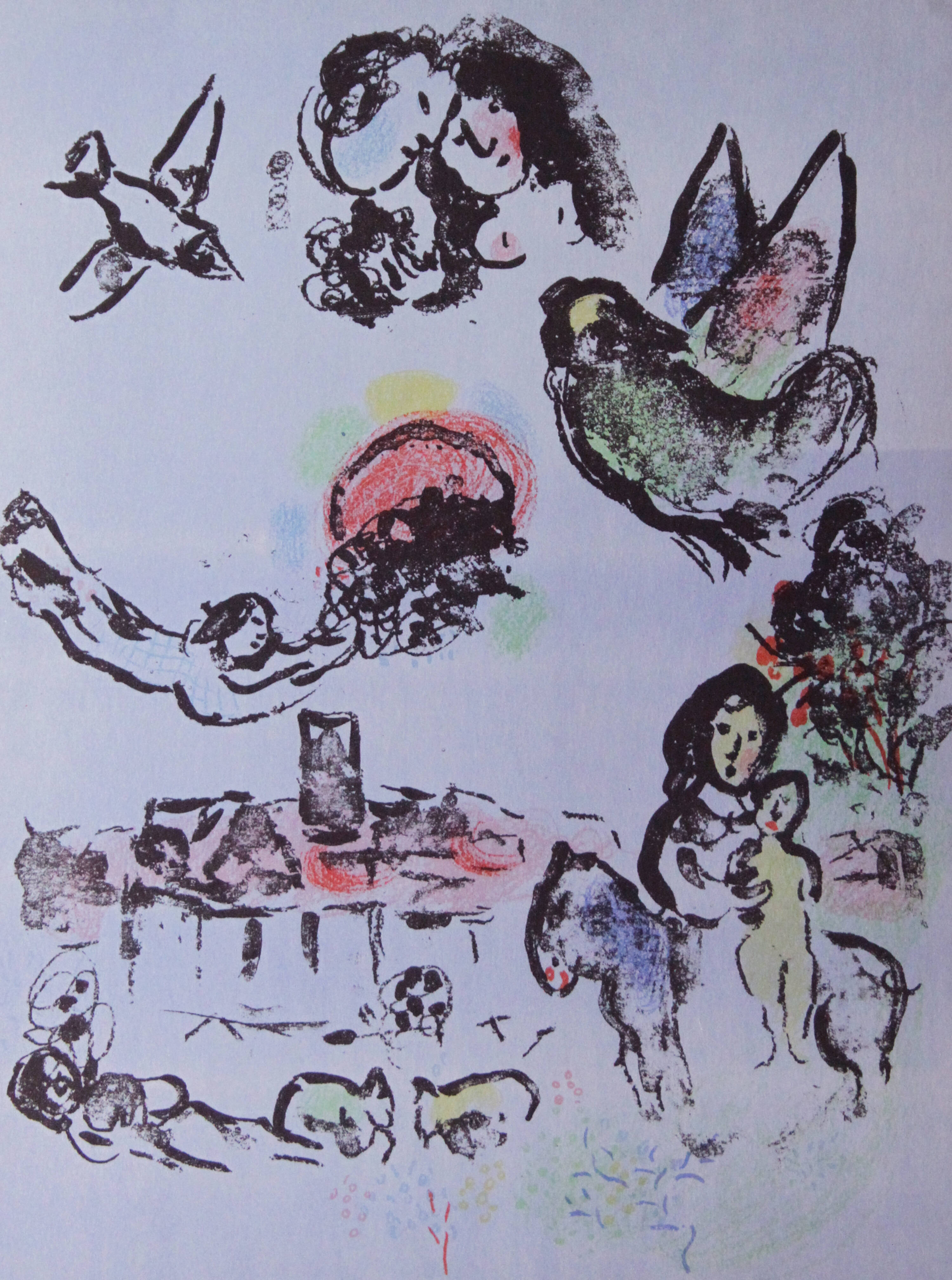 MARC CHAGALL - 'Notturno a Vence'
