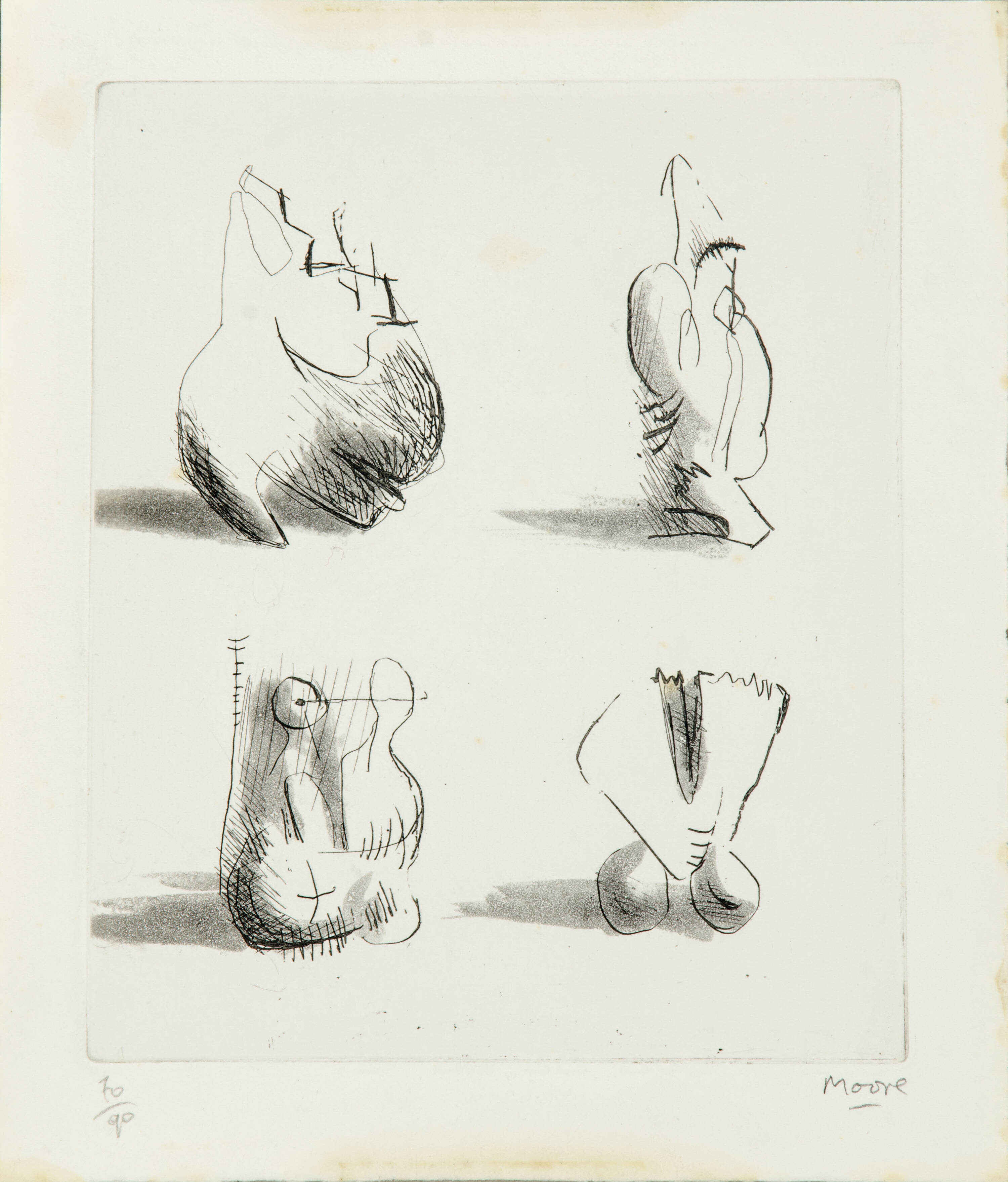 HENRY MOORE - 'Composizione'