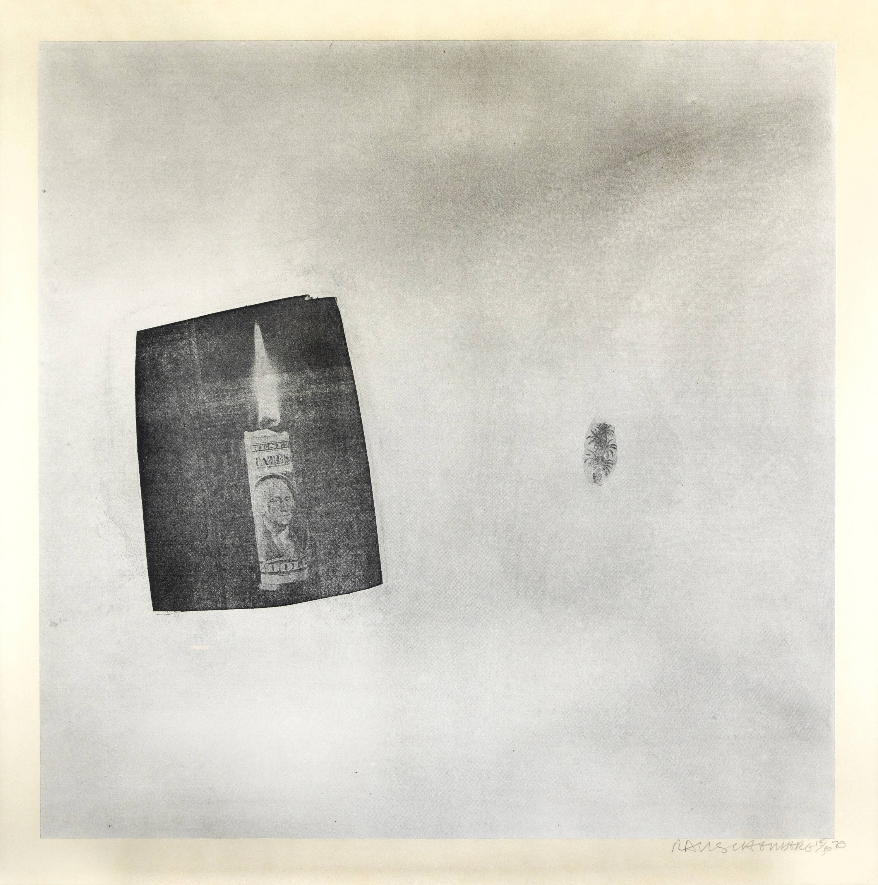 ROBERT RAUSCHENBERG - 'Features (from Currents)' 1970